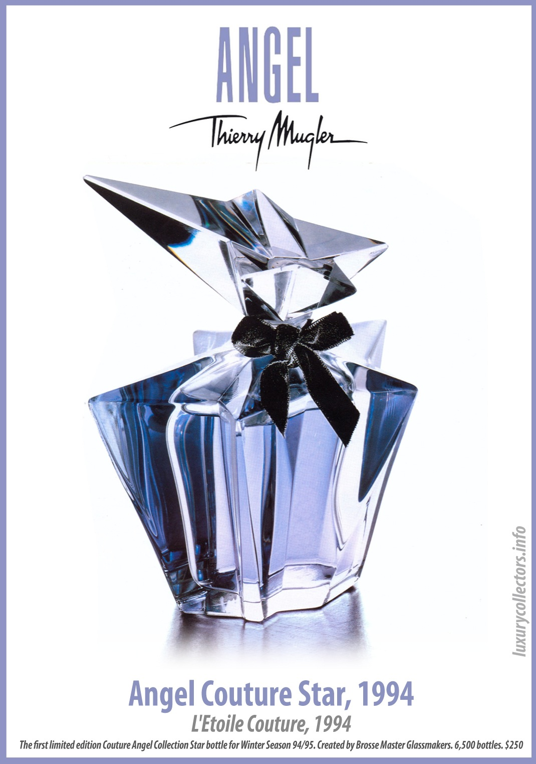 Thierry Mugler's first limited edition numbered Couture Star Perfume Bottle