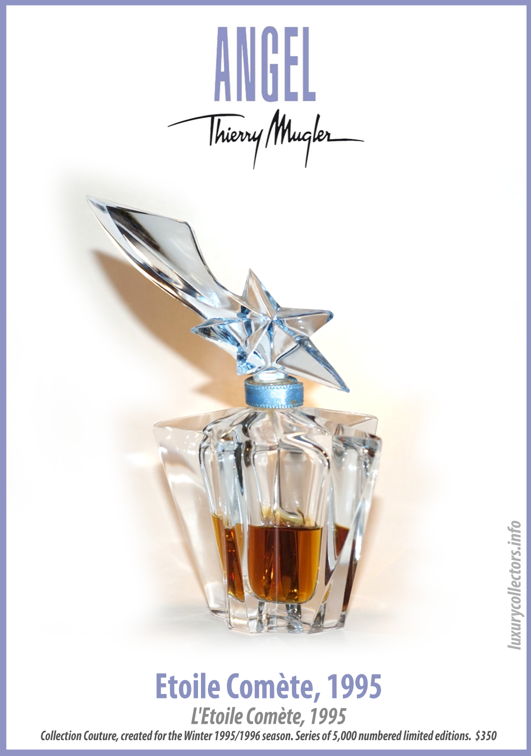 Thierry Mugler Perfume Bottle for 1995 Angel Comete Star