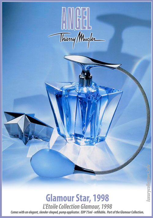 Thierry Mugler Angel Perfume Collector's Limited Edition Bottle 1998 Glamour Star