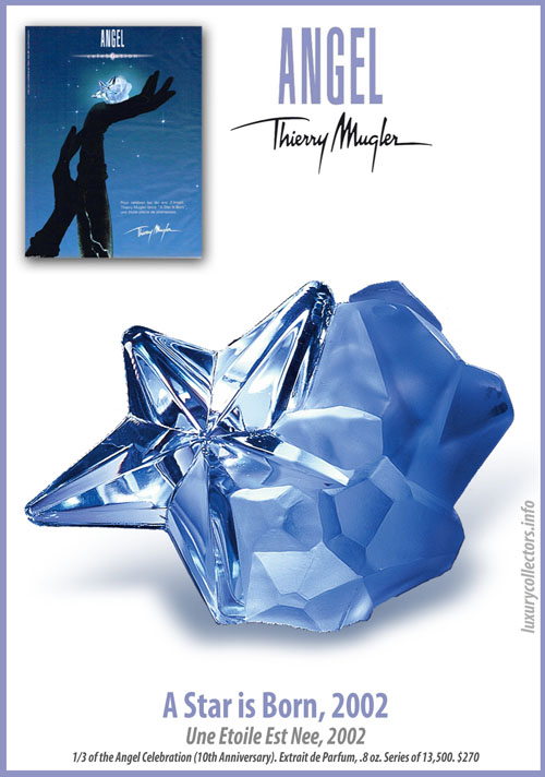 Thierry Mugler Angel Perfume Collector's Limited Edition Bottle 2002 A Star is Born 10 Years Anniversary