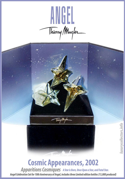 Thierry Mugler Angel Perfume Collector's Limited Edition Bottle 2002 Cosmic Appearances