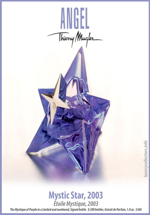 Thierry Mugler Angel Perfume Collector's Limited Edition Bottle 2003 Mystic Star