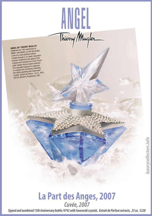 Thierry Mugler Angel 20 Years Perfume Collector's Limited Edition Bottle 2007 La Part des Anges
