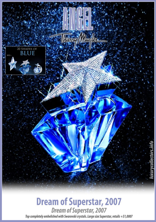 Thierry Mugler Angel 20 Years Perfume Collector's Limited Edition Bottle 2007 Dream of Superstar