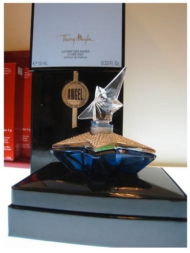 Thierry Mugler Angel Perfume La Part des Anges Angels Star (Etoile), 2007. Swarovski Crystals. Bottle Collecting Box Cuvee Cognac