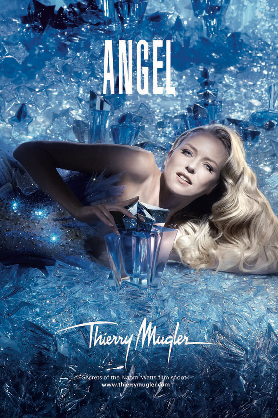 Thierry Mugler Angel Perfume Collector's Limited Edition Bottle 2008 Superstar Deluxe Factice Ad Naomi Watts