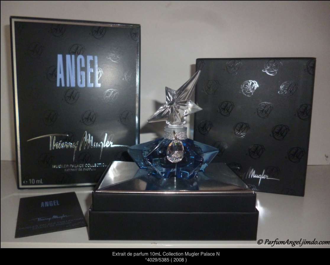 Thierry Mugler Angel 20 Years Perfume Collector's Limited Edition Bottle 2008 Superstar Deluxe Palace Collection Extrait de Parfum 2009 Box Swarovski