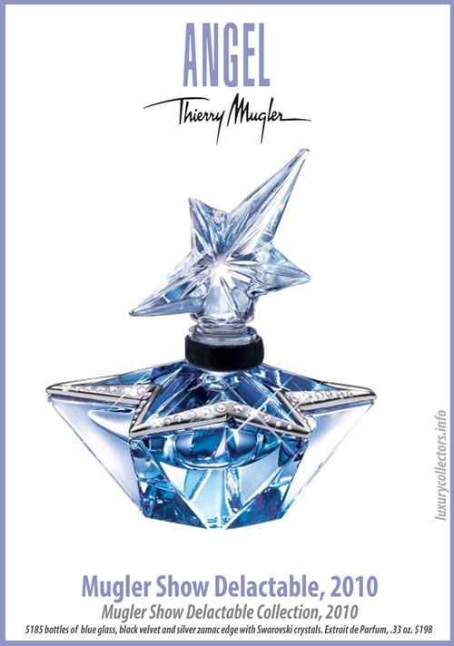 Thierry Mugler Angel 20 Years Perfume Collector's Limited Edition Bottle 2010 Show Delactable