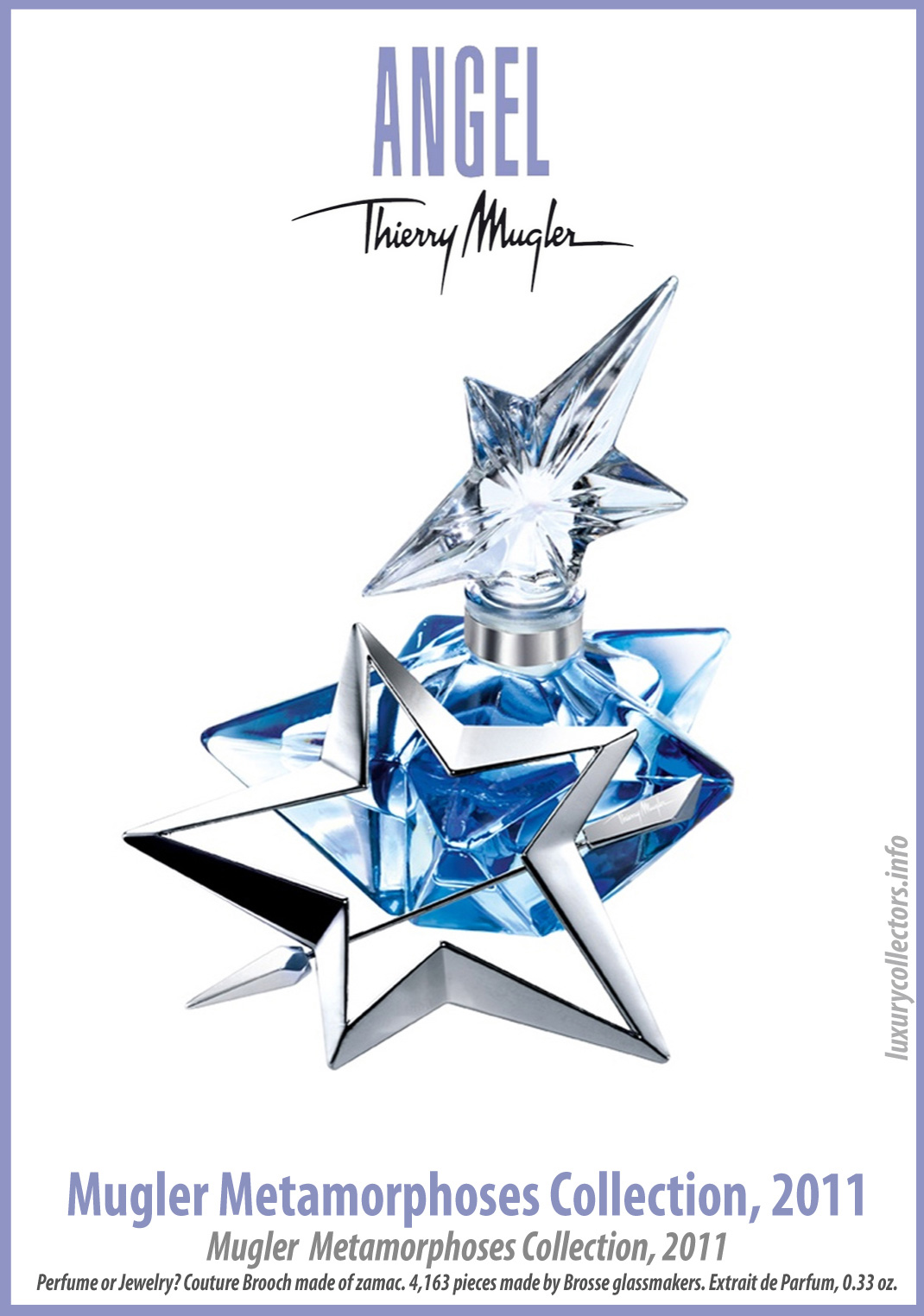 Thierry Mugler Angel 20 Years Perfume Collector's Limited Edition Bottle 2011 Metamorphoses