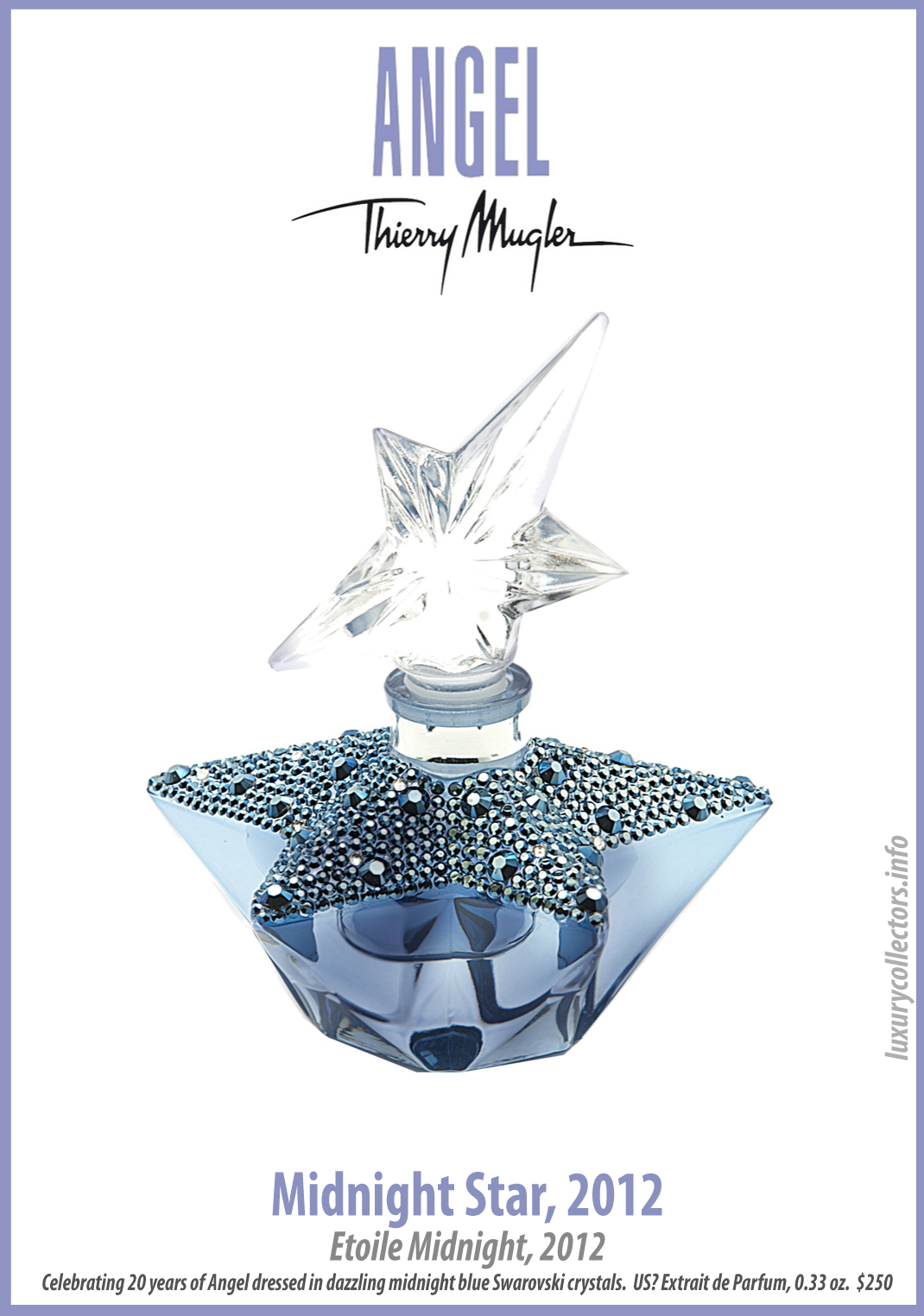 Thierry Mugler Angel 20 Years Perfume Collector's Limited Edition Bottle 2012 Midnight Star