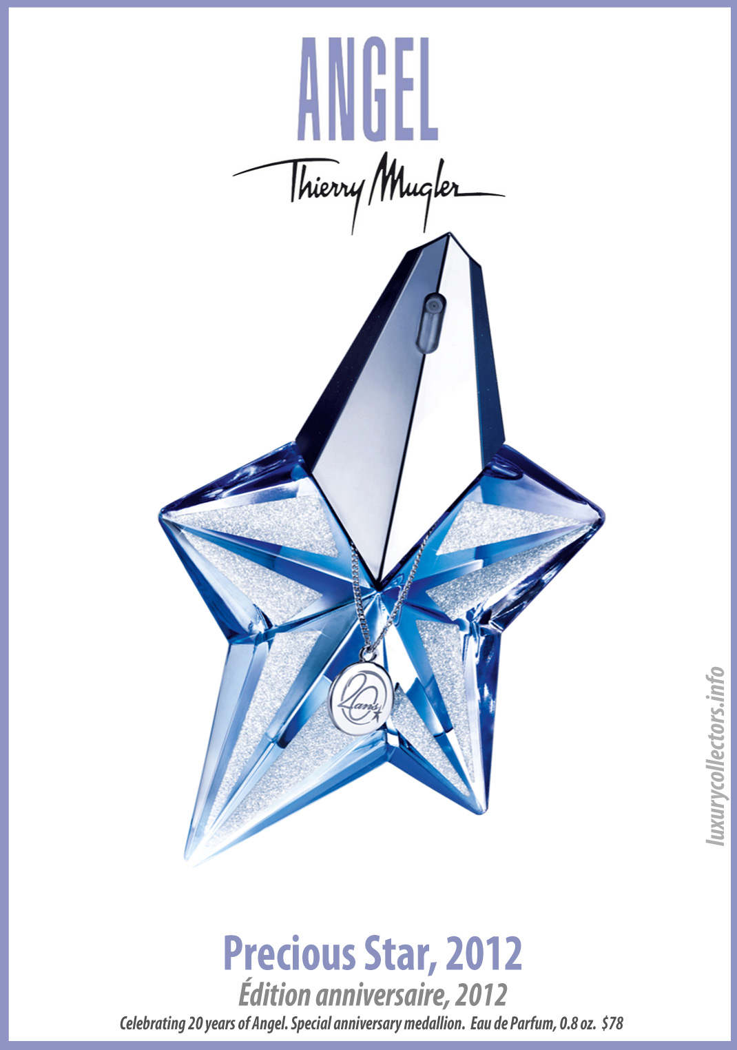 Thierry Mugler Angel Perfume Collector's Limited Edition Bottle 2012 Presious Star