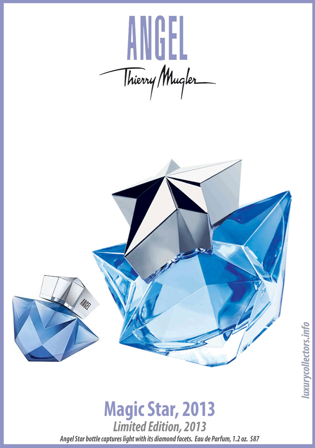 Thierry Mugler Angel Perfume Collector's Limited Edition Bottle 2013 Angel Magic Star