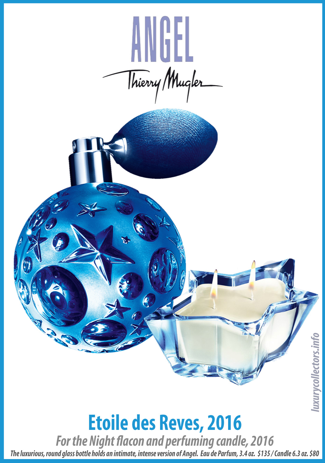 Thierry Mugler Angel Perfume Collector's Limited Edition Bottle 2016 Etoile des Reves For the Night Star