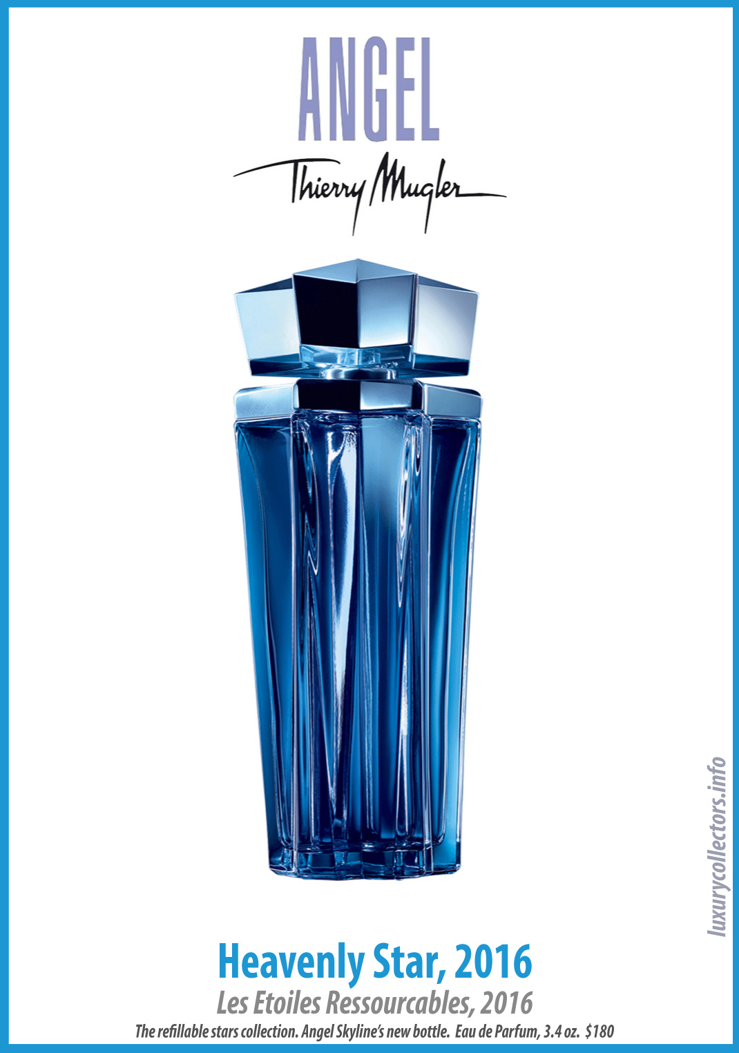 Thierry Mugler Angel Perfume Collector's Limited Edition Bottle 2016 Heavenly Star