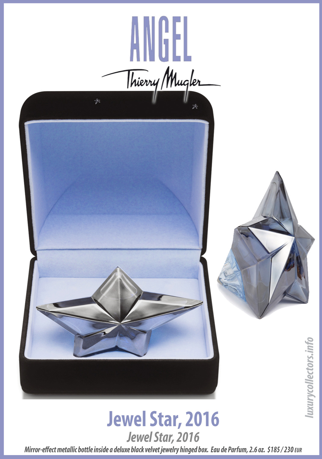 Thierry Mugler Angel Perfume Collector's Limited Edition Bottle 2016 Jewel Star