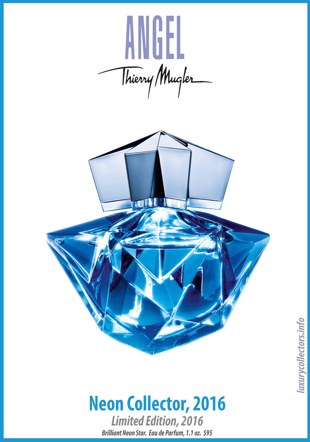 Thierry Mugler Angel Perfume Collector's Limited Edition Bottle 2016 Neon Collector
