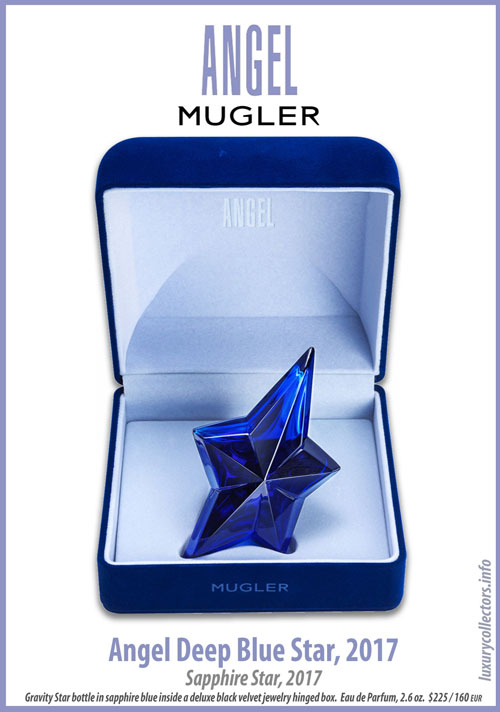Thierry Mugler Angel Perfume Collector's Limited Edition Bottle 2017 Deep Blue Sapphire Star Velvet Box