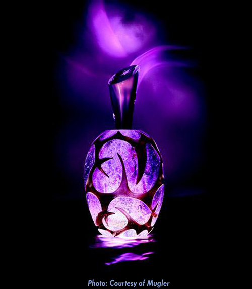 Thierry Mugler Angel Perfume Collector's Limited Edition Bottle 2018 2017 Clouds Cloud Egg Eggs Nuages Unique Art hand Glass Mouthblown Jean-Jacques Urcun Frederic Alary Advertisement Purple Amethyst Thorns
