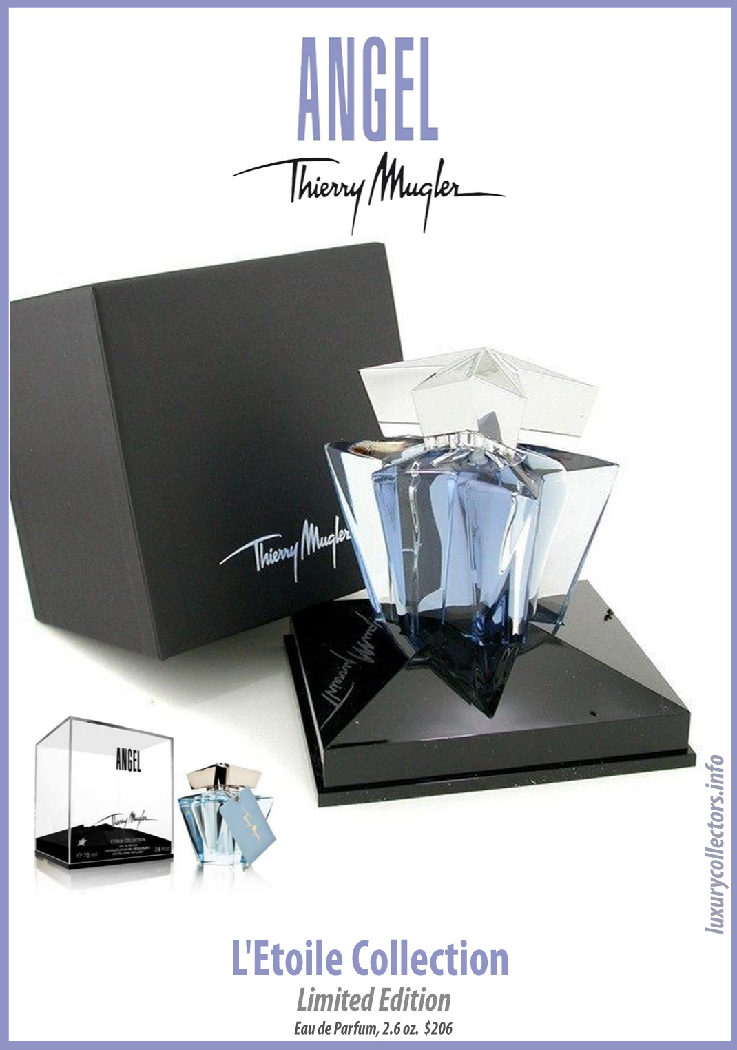 Thierry Mugler Angel Perfume Collector's Limited Edition Bottle Etoile