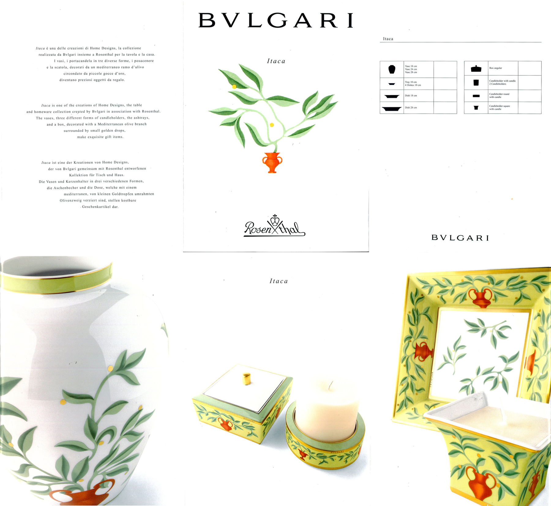 Bulgari Bvlgari Itaca Vase Rosenthal Fine China Housewares Home Porcelain Catalog