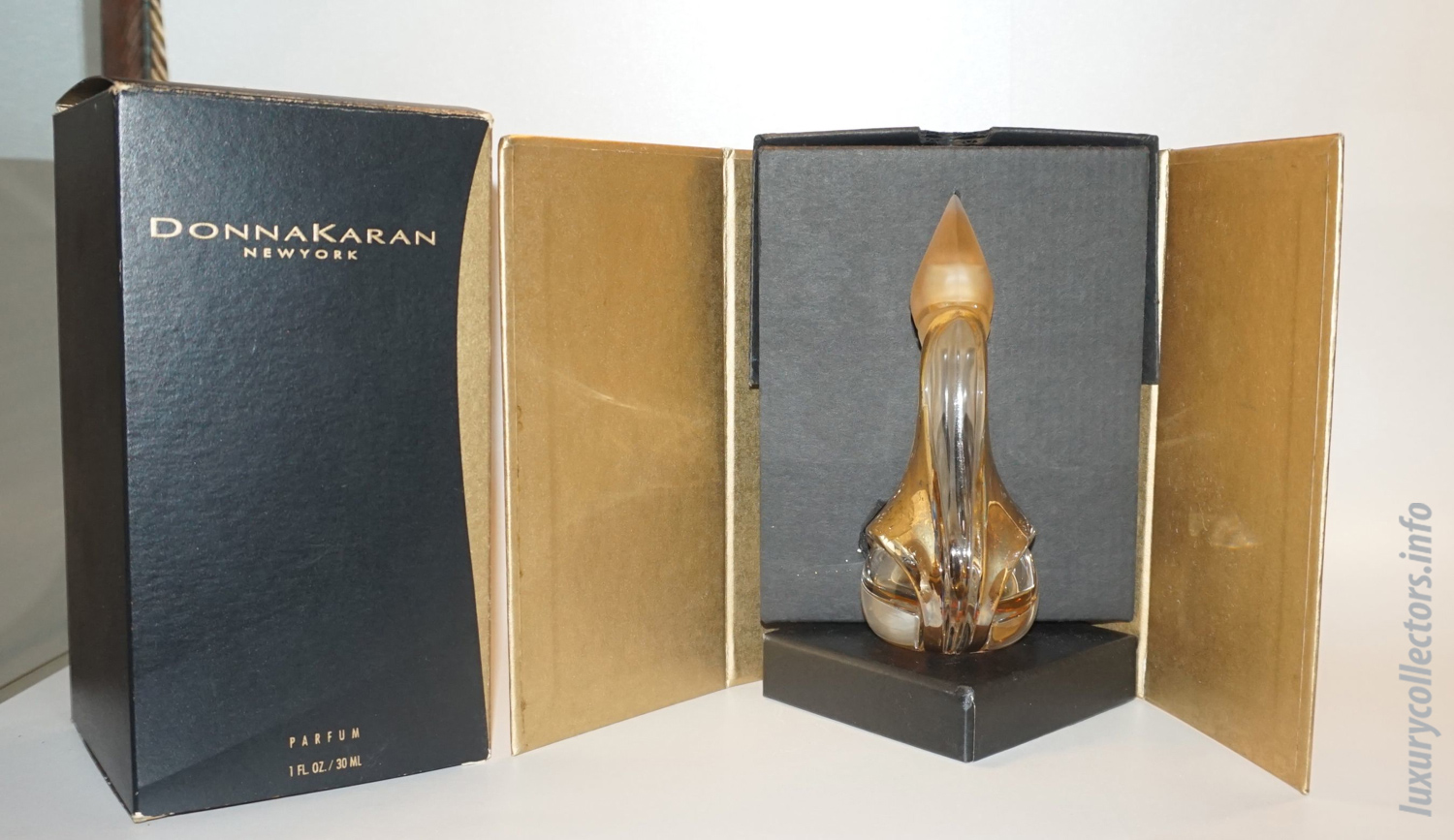 Complete Box Packaging Donna Karan New York Parfum Limited Edition Perfume Bottle Gold Signed Stephan Weiss Numbered