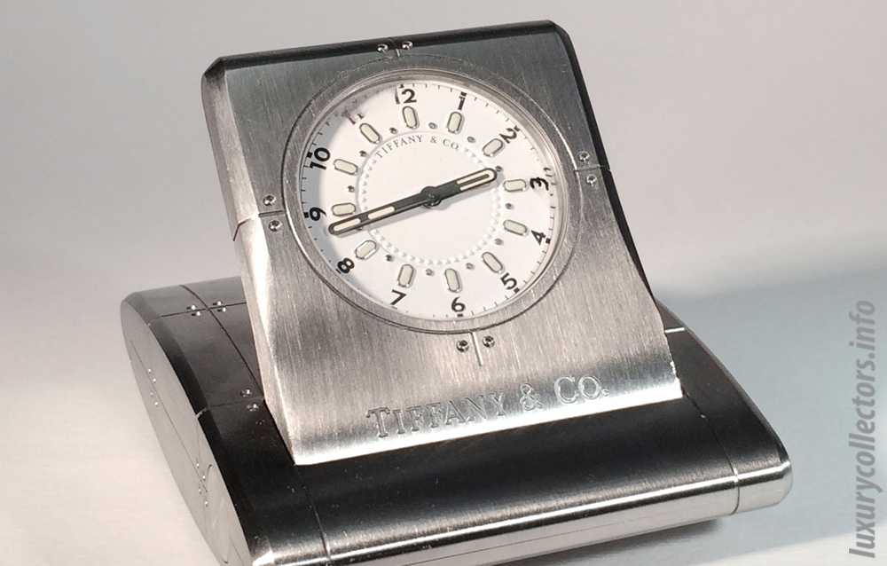 Tiffany & Co. Streamerica Metrozone Travel Alarm Clock in Stainless Steel