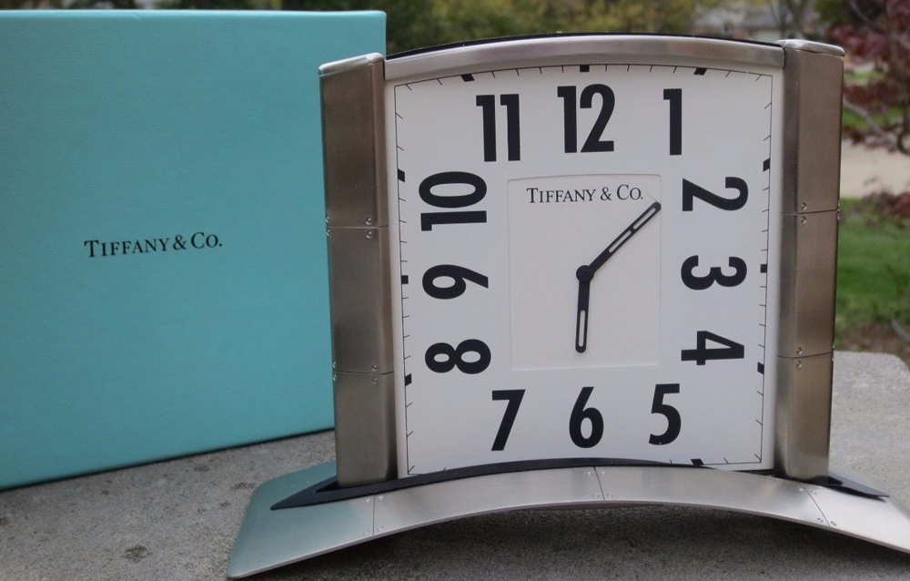 Tiffany & Co. Streamerica Airframe Desk Clock in Stainless Steel
