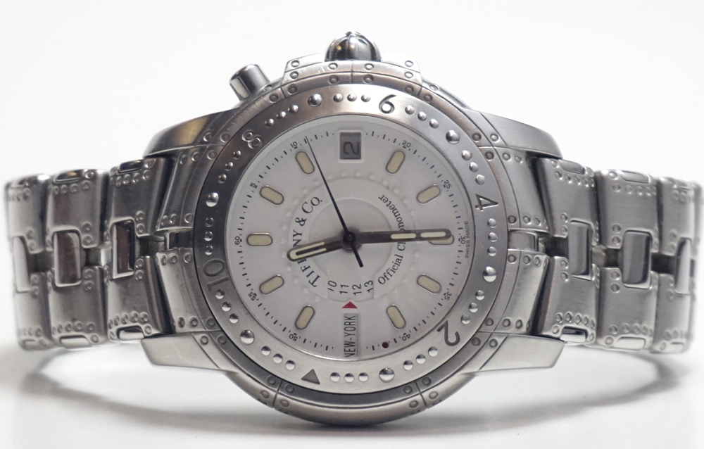 Tiffany & Co. Streamerica World Time Watch in Stainless Steel