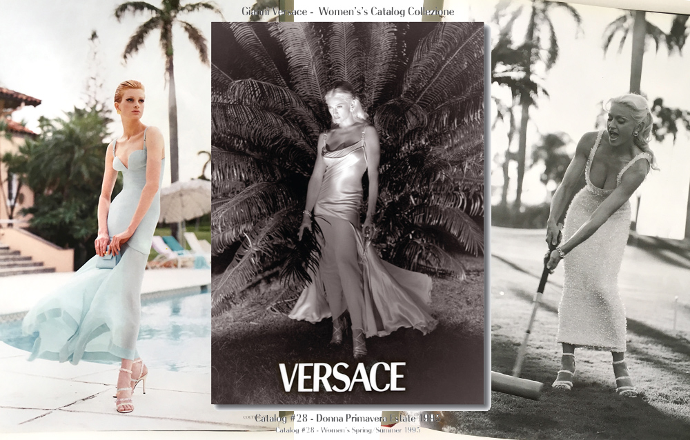 Madonna Strikes a Pose for Versace Women's Catalog #28 – Spring/Summer 1995