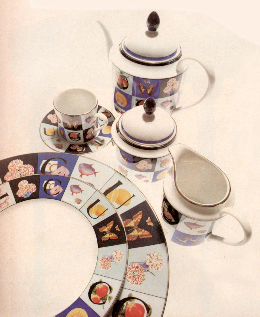 Gucci Home Fine China Guccissimo Pattern housewares Italy Antique