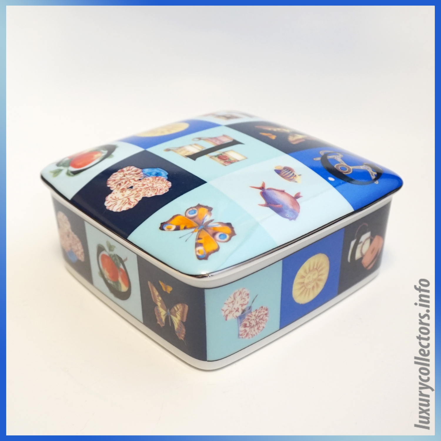 Gucci Home Housewares Decor Tableware Coffee China Porcellana Covered Box lid Candy Butterfly