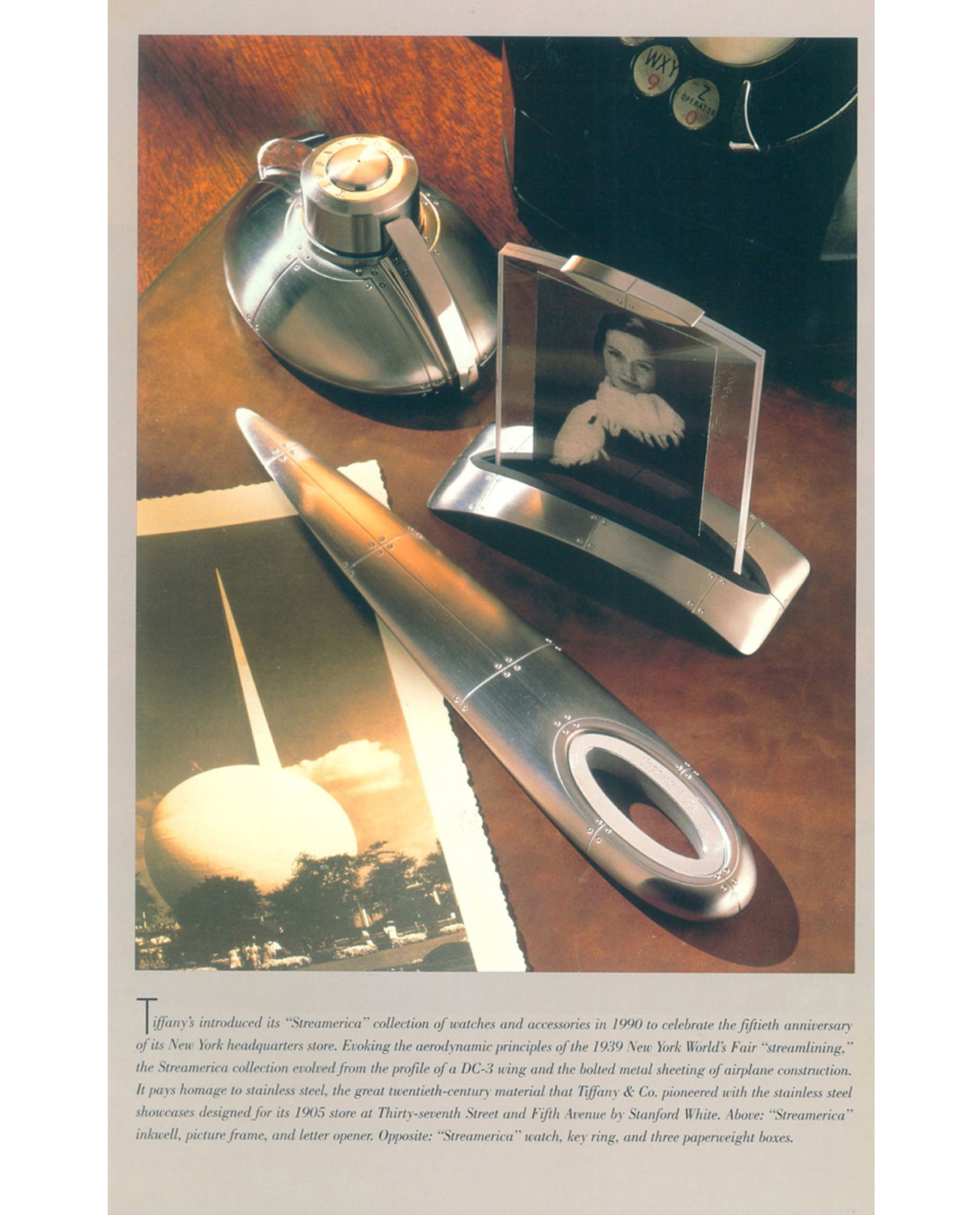 Tiffany & Co. Streamerica Stainless Steel Collection Book Excerpt Loring 20th Century Book
