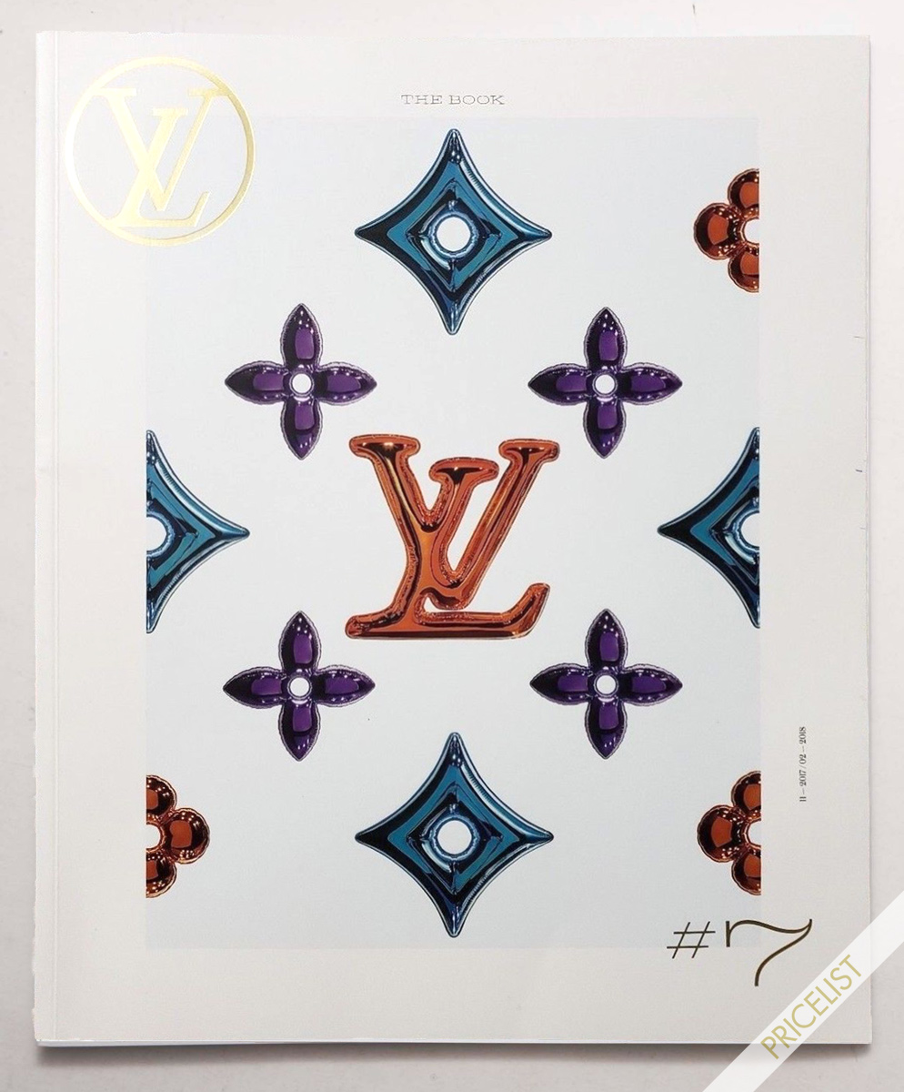 Louis Vuitton Paris The Book #7 Magazine Quarterly Season Fashion Catalog Pret a Porter Ready to Wear RTW Cover Accessories Catalog Maroquinerie Men Women Cover Nicolas Ghesquière Automne - Hiver 2017 – 2018 Japan Stickers Rare Price List Prices Yen Dollar