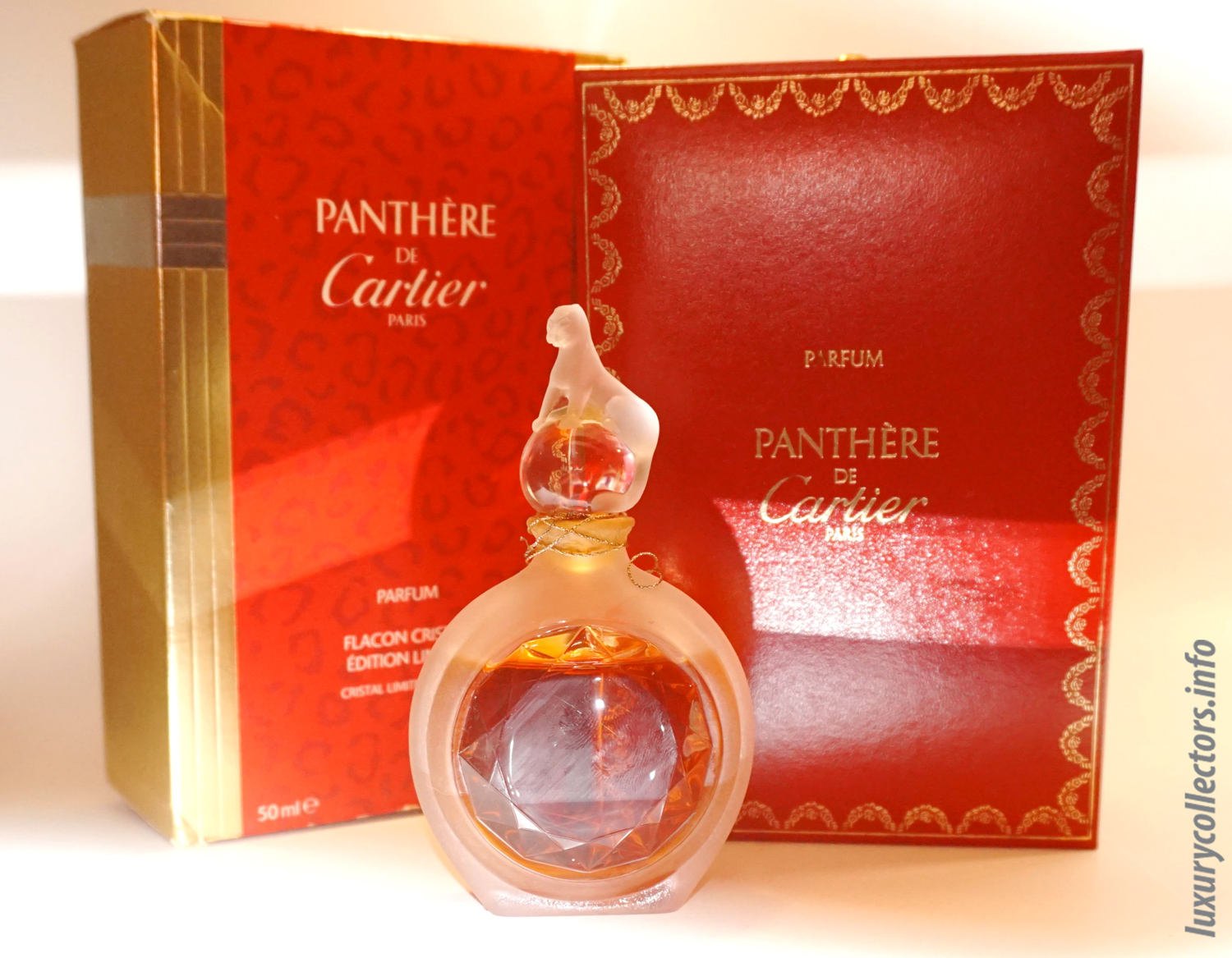 Box Carier Panthere Perfume Duchess of Windsor Pin Crystal Limited Edition bottle jewel
