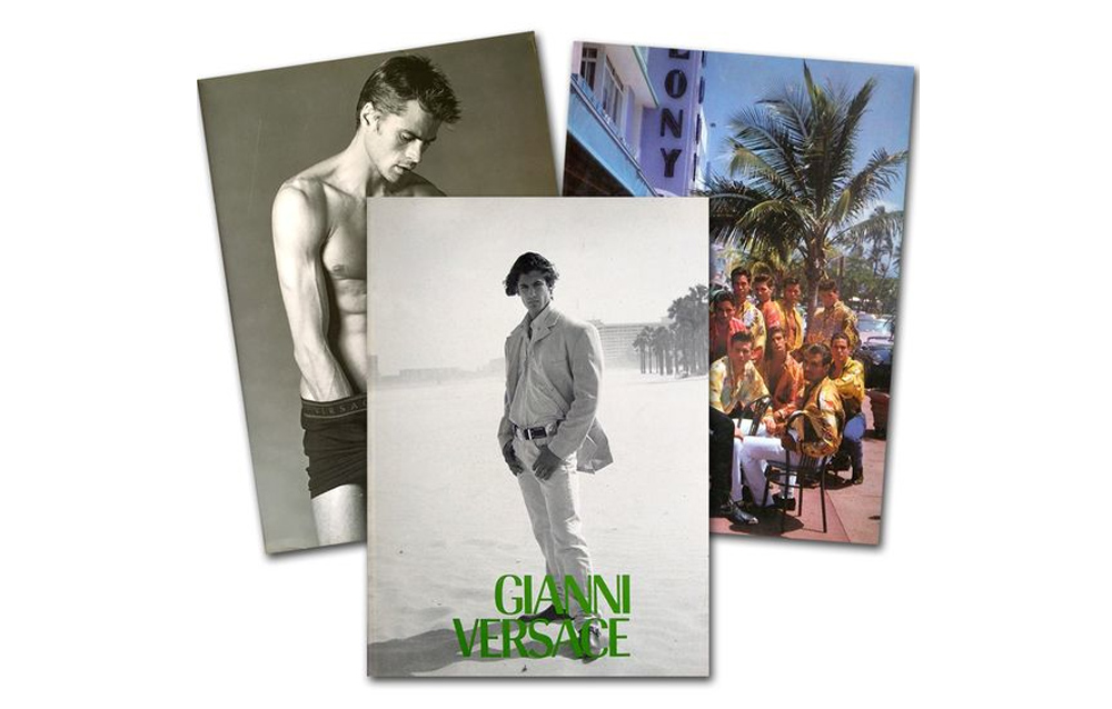 Gianni Versace Fashion Catalog Catalogue Covers History Models Photography Photos supermodels Nude Men Gay Spring Summer Collections Book