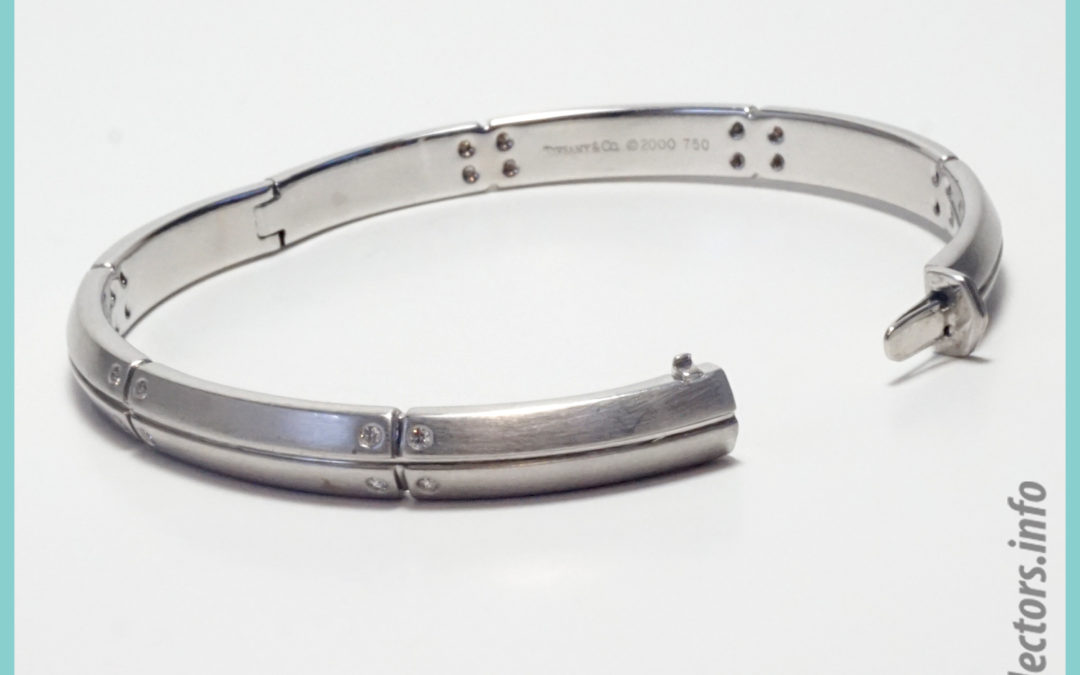 Tiffany & Co. Streamerica 18K White Gold Bangle Bracelet