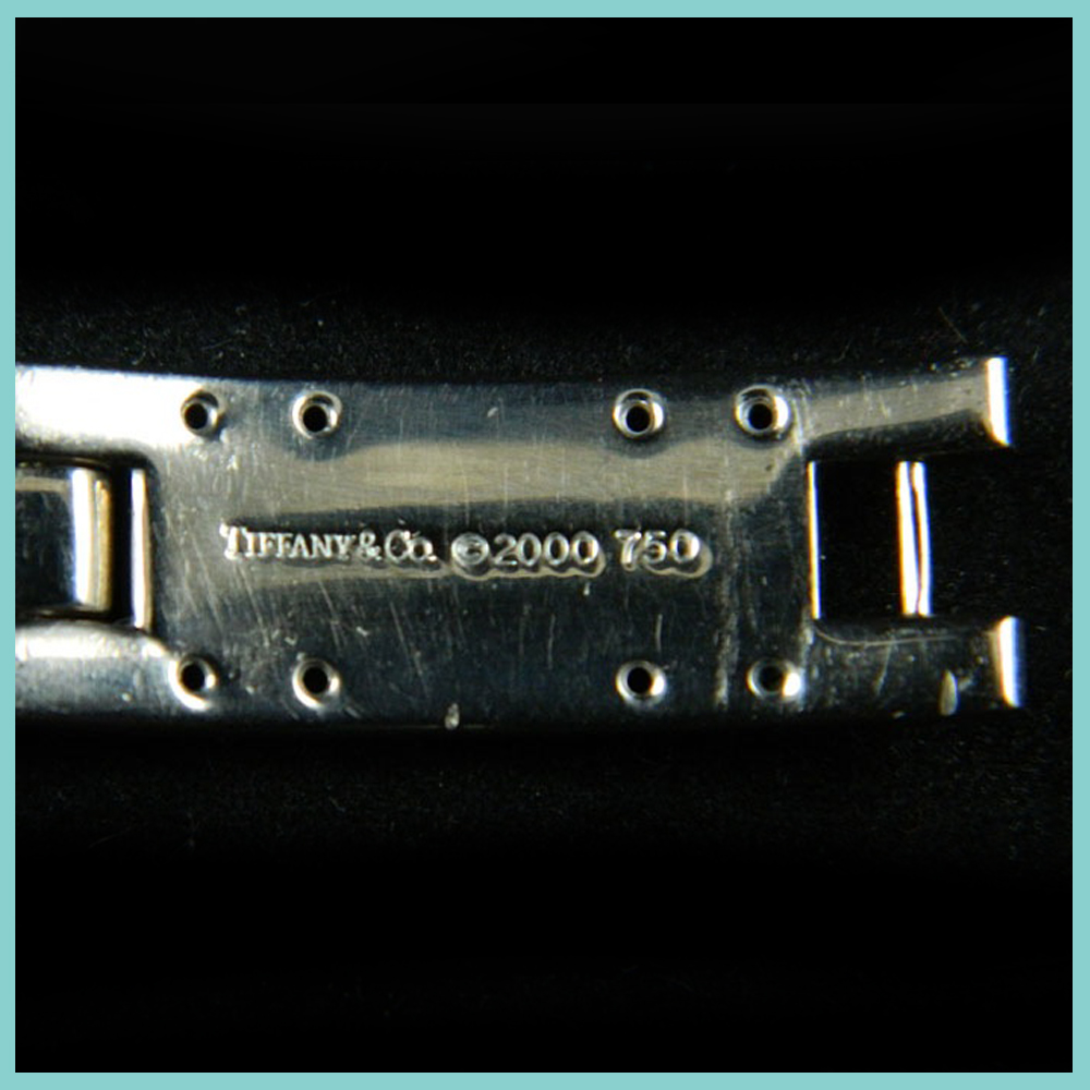 Tiffany and & Co. Streamerica 18K White Gold Link Bracelet Collection Diamonds 2000 2002 Price Website 750 stamp