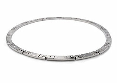 Tiffany and & Co. Streamerica 18K White Gold Link Necklace Collection Diamonds 2000 2002