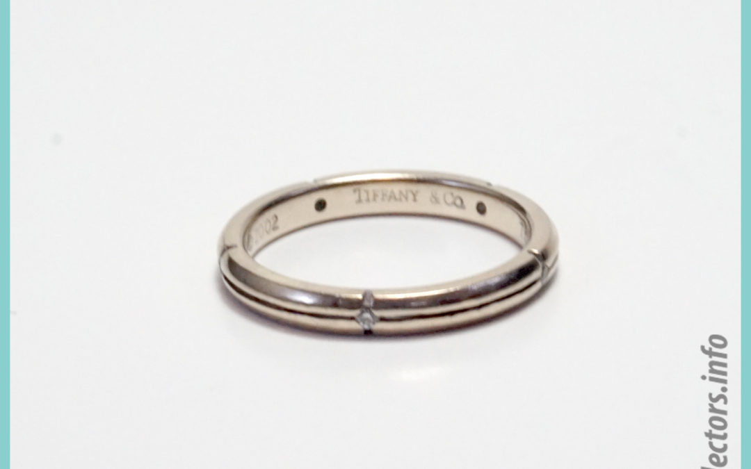 Tiffany & Co. Streamerica 18K White Single Band Ring