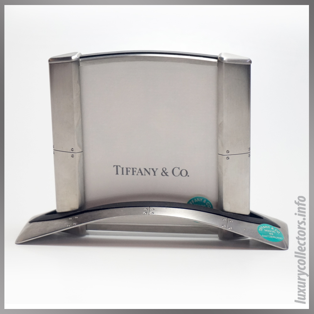 Tiffany & and Co. Streamerica Stainless Steel Airframe Picture Photo Frame Medium Swiss Made in Switzerland