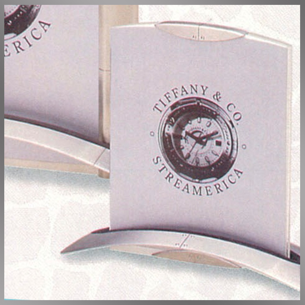 Tiffany & and Co. Streamerica Stainless Steel Airframe Picture Photo Frame Small Clip