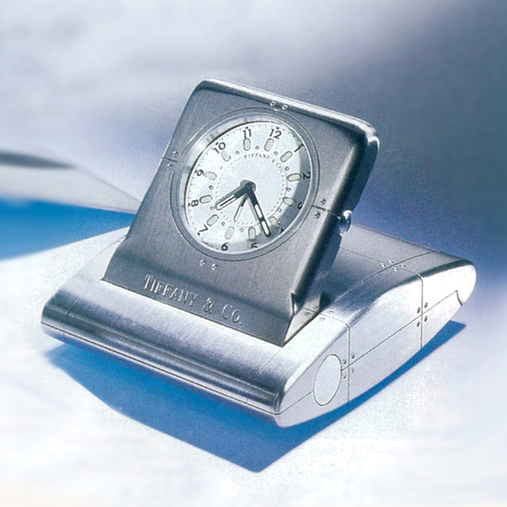 Streamerica Tiffany & Co. Metrozone Travel Alarm Clock Stainless Steel