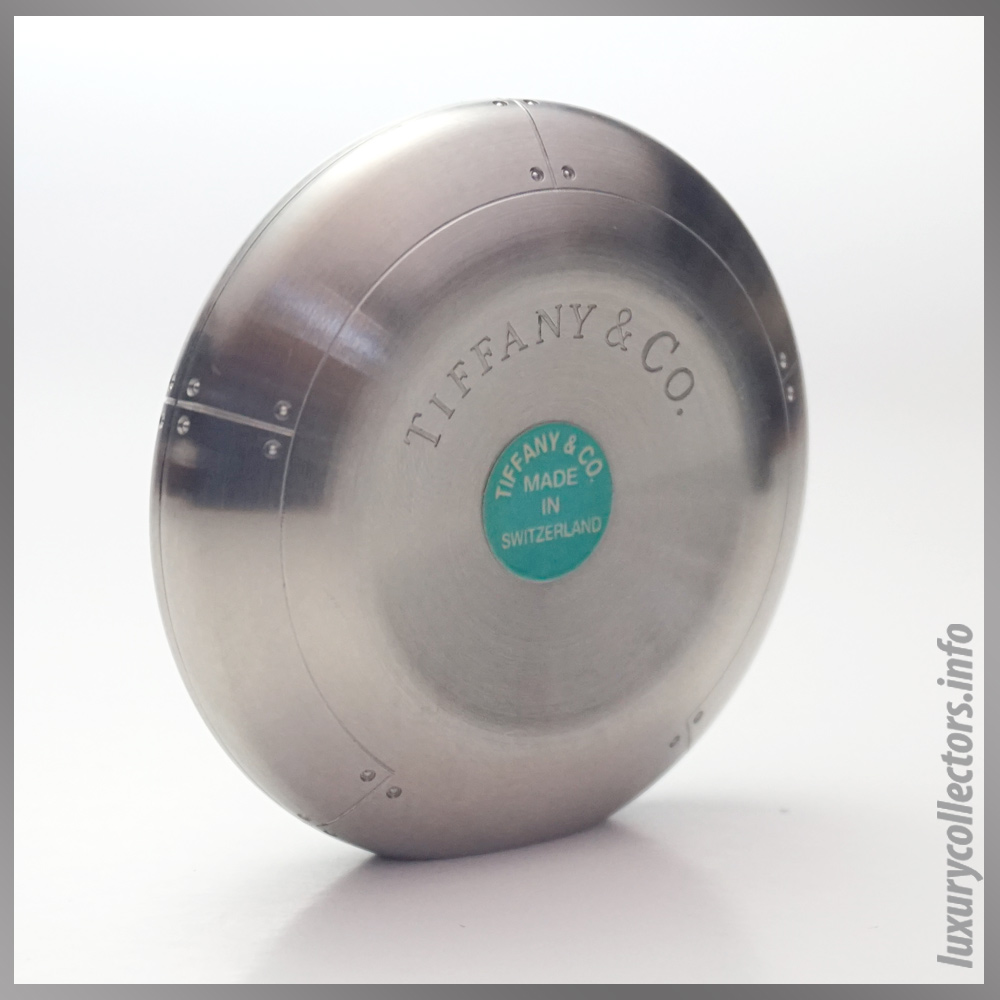 Streamerica Tiffany & adn Co. Perisphere Nesting Boxes Stainless Steel Paperweight Back Side View