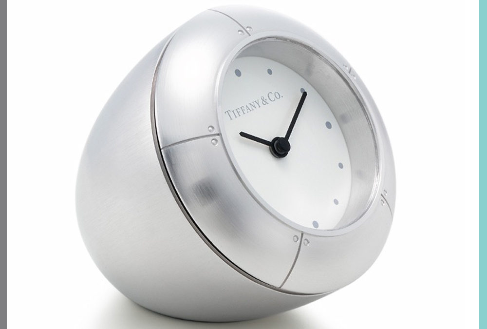 Tiffany & Co. Streamerica Travel Desk Clock.