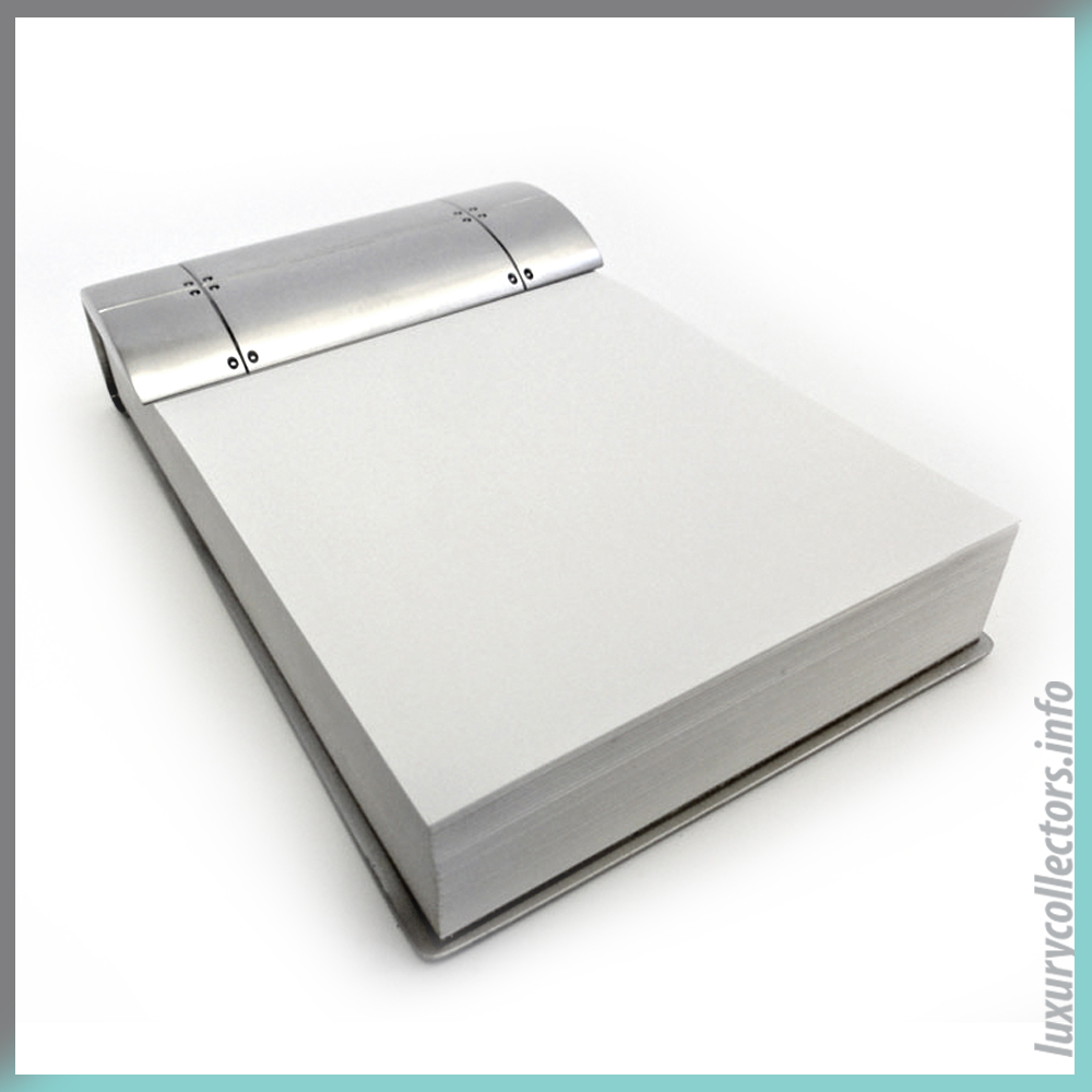 Writing Pad Tiffany & and Co. Notepad Note Jotpad Streamerica Sterling Silver Collection 2002 .925 Spain