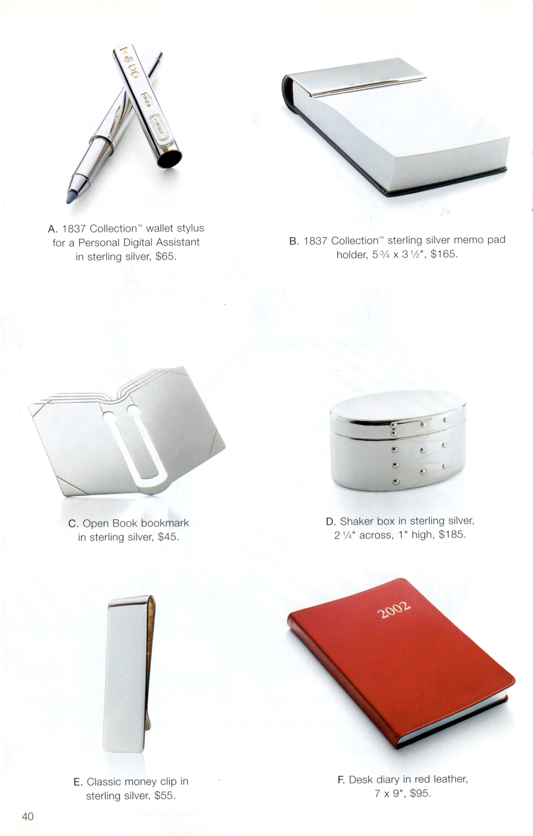 TiffanyAd_Sterling_NoteHolder_2001
