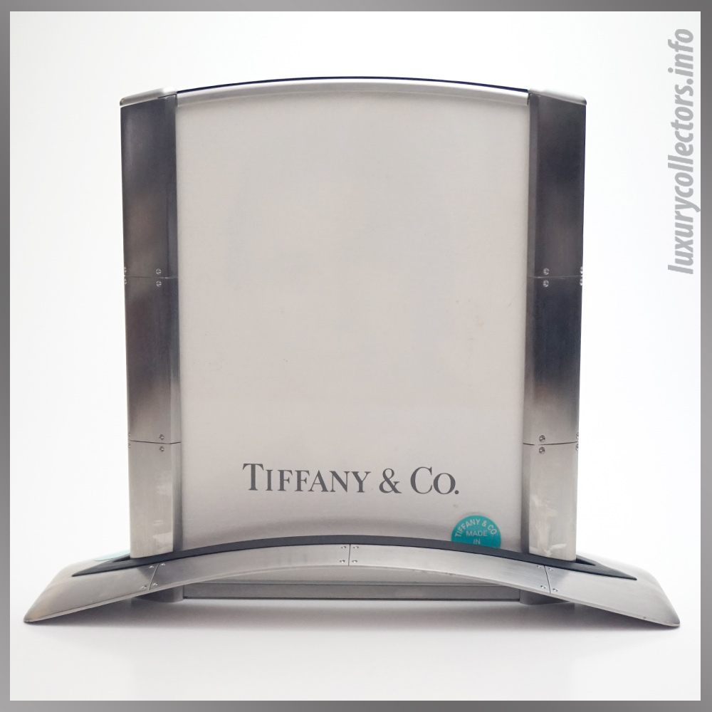 Tiffany & and Co. Streamerica Stainless Steel Airframe Picture Photo Frame Large Swiss