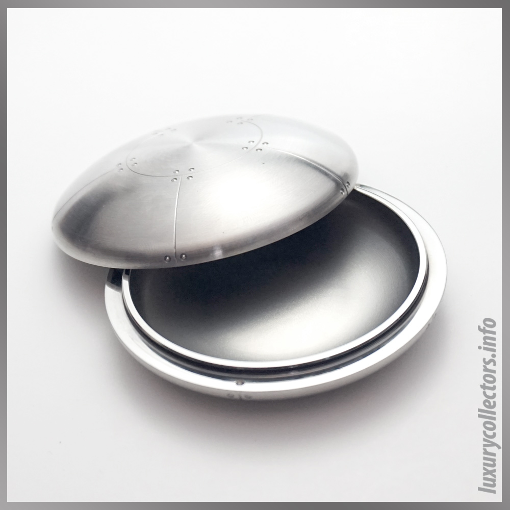 Streamerica Tiffany & adn Co. Perisphere Nesting Boxes Stainless Steel Paperweight Opened