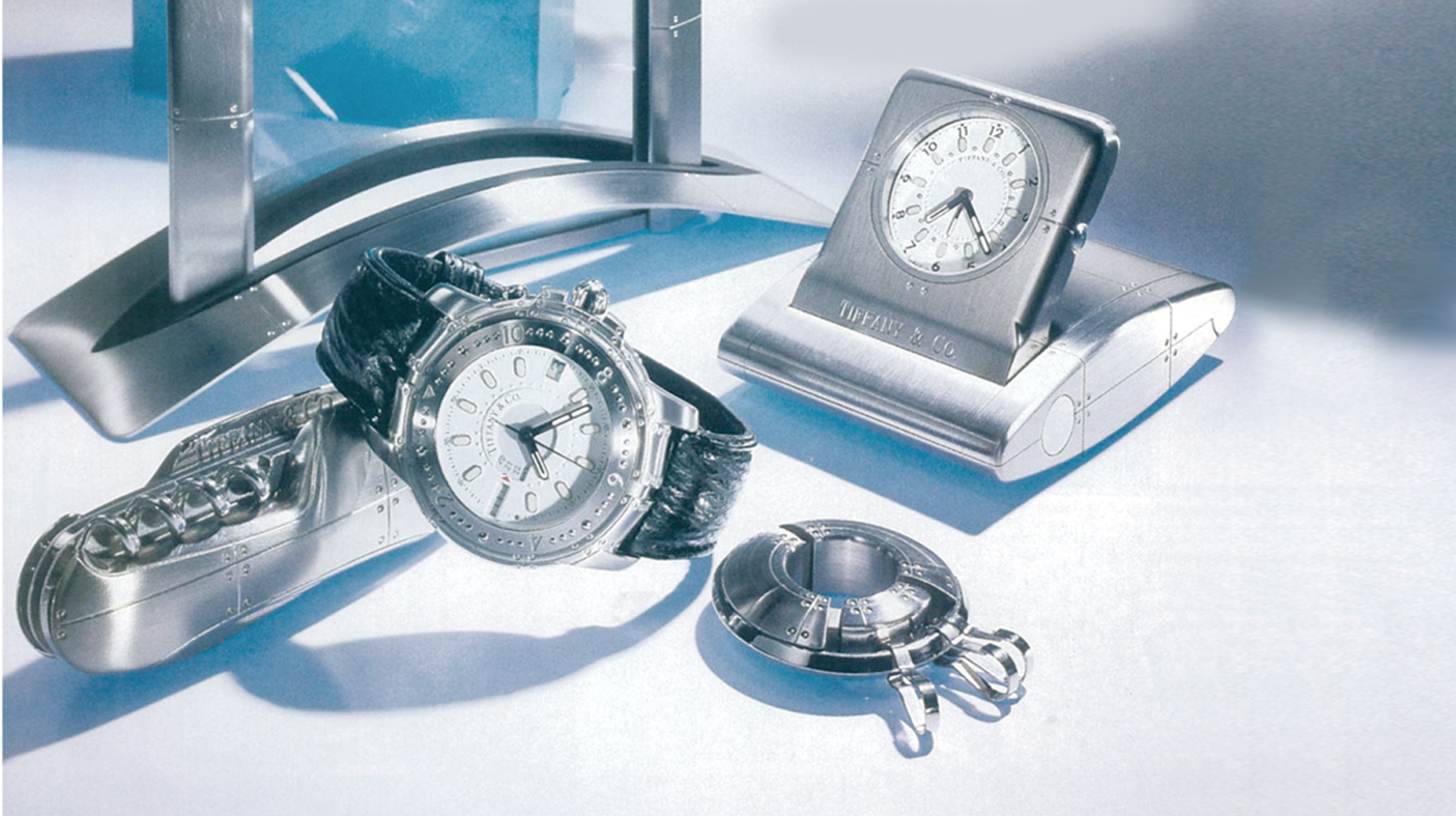 Tiffany & Co. Streamerica Stainless Steel Collection 1993 Men's Accesories