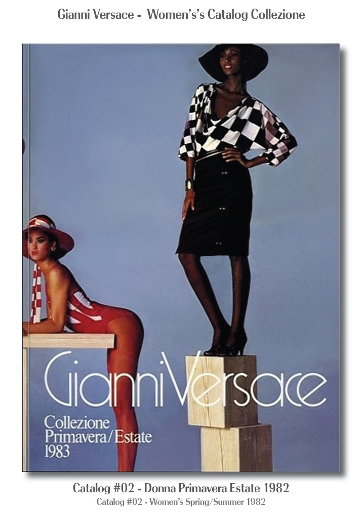 Gianni Versace Donna Collezione Primavera Estate Woman's Spring Summer Catalog Fashion Supermodels #02, 1982